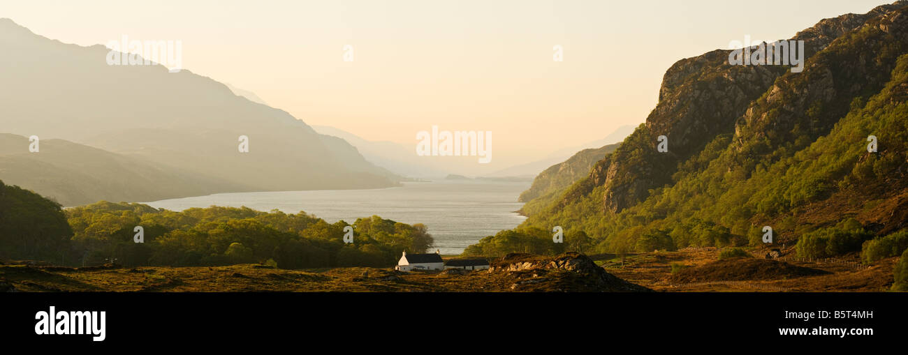 north end of Loch Maree, south of Gairloch, Wester Ross, Scotland - Stock Image