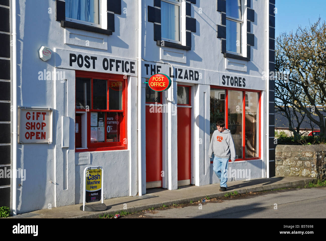 office the shop. The Village Shop And Post Office At Lizard In Cornwall,uk - Stock Image I