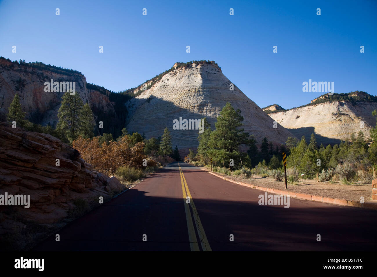 Checkerboard Mesa Zion National Park Utah - Stock Image