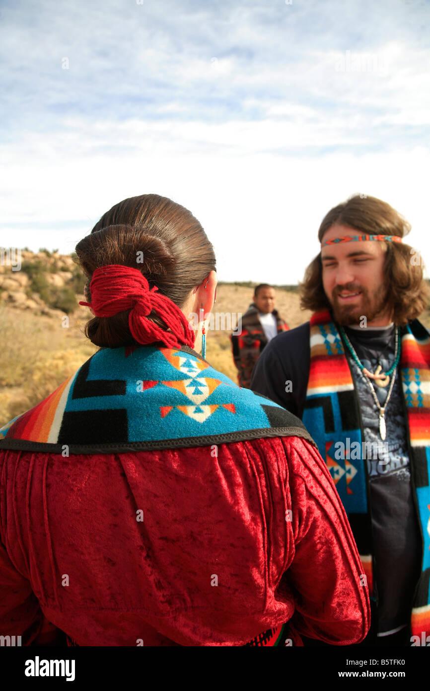 Navajo Navajo Reservation Arizona - Stock Image