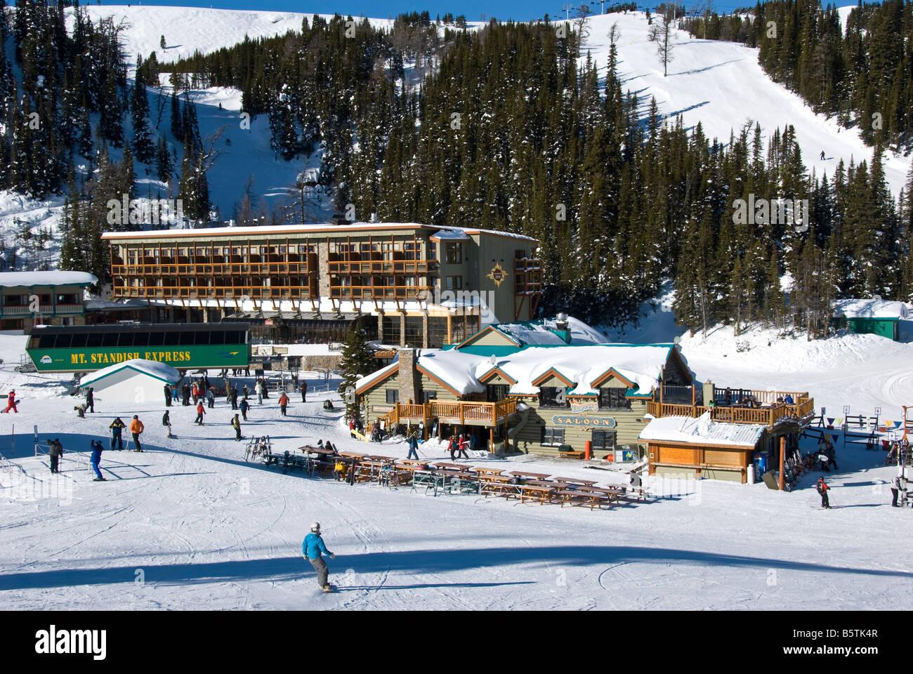 sunshine inn, sunshine village ski resort, banff national park stock