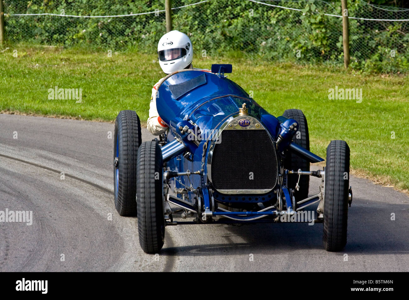 1923 Delage Bequet with driver Alexander Boswell at Goodwood Festival of Speed, Sussex, UK. - Stock Image