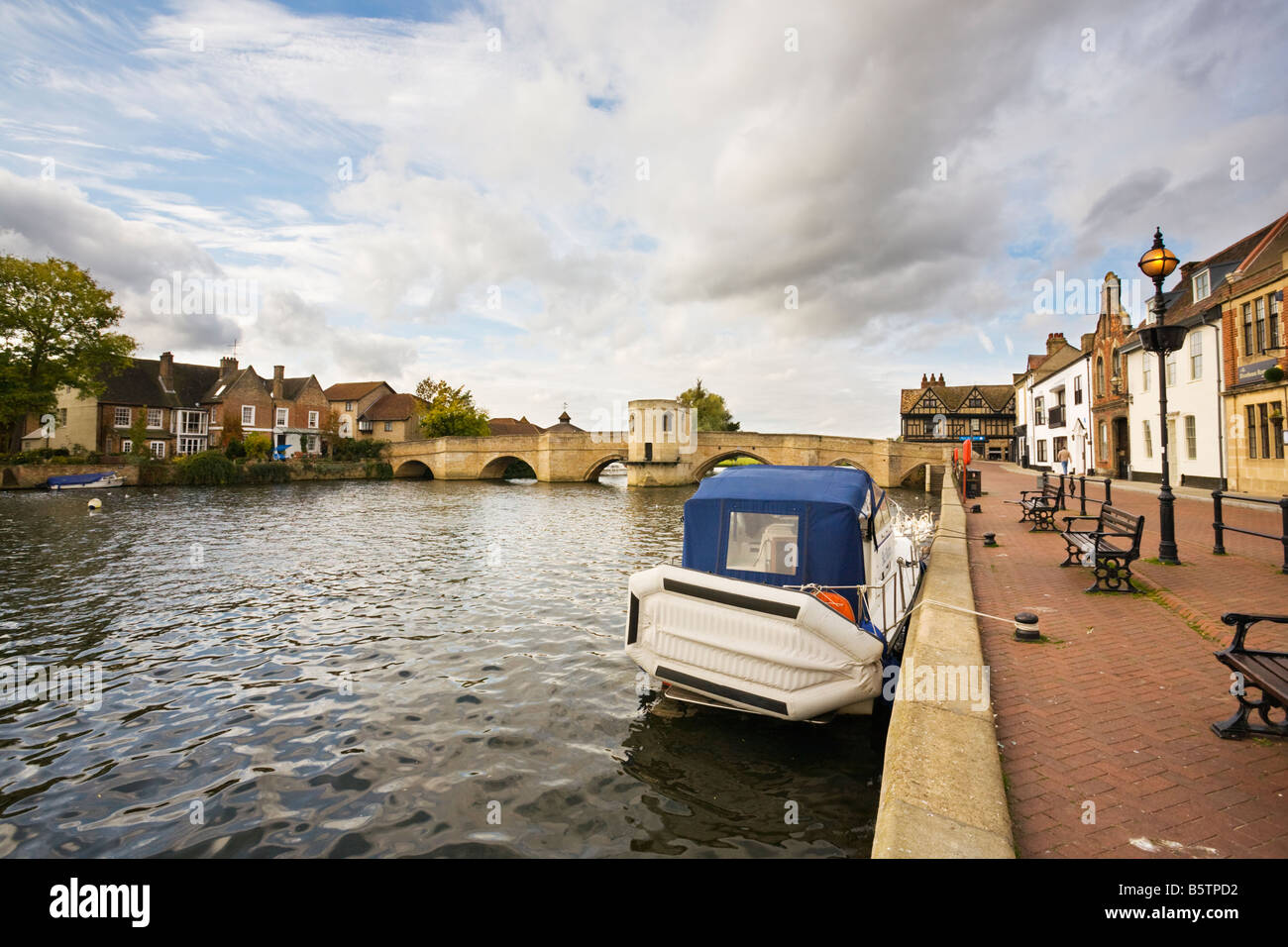quayside St Ives Cambs - Stock Image