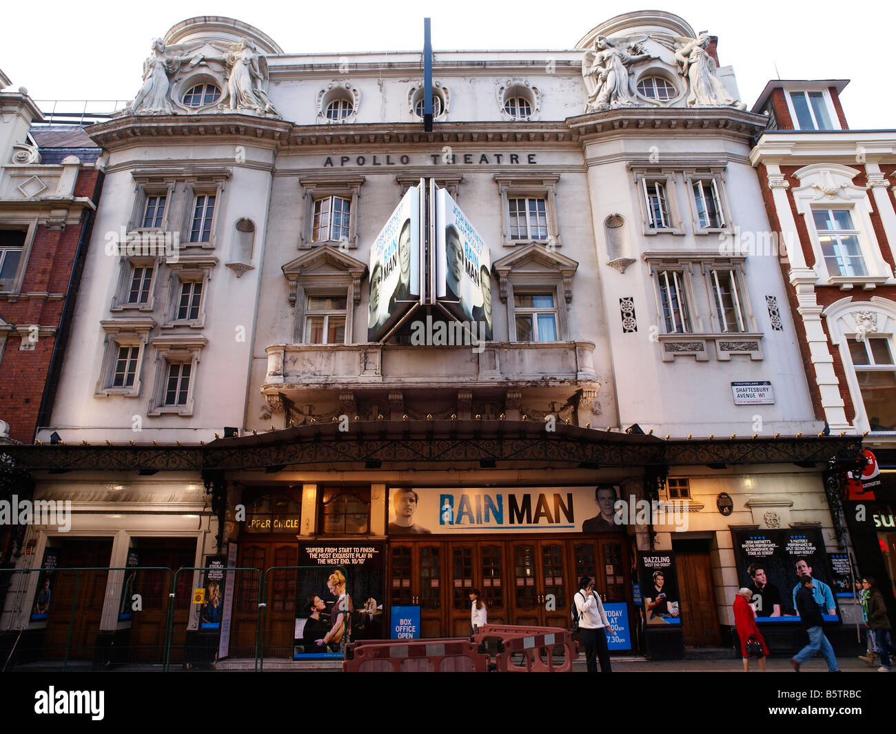 Facade of the Apollo Theatre Shaftesbury Avenue London England - Stock Image