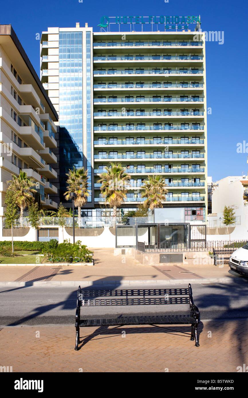 Hotel Florida Spa Passeio Maritimo, Fuengirola, Costa del Sol, Spain - Stock Image
