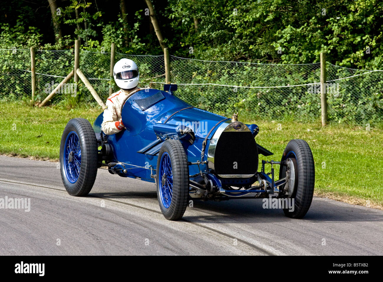 1923 Delage Bequet with driver Alexander Boswell at the 2008 Goodwood Festival of Speed, Sussex, UK. - Stock Image