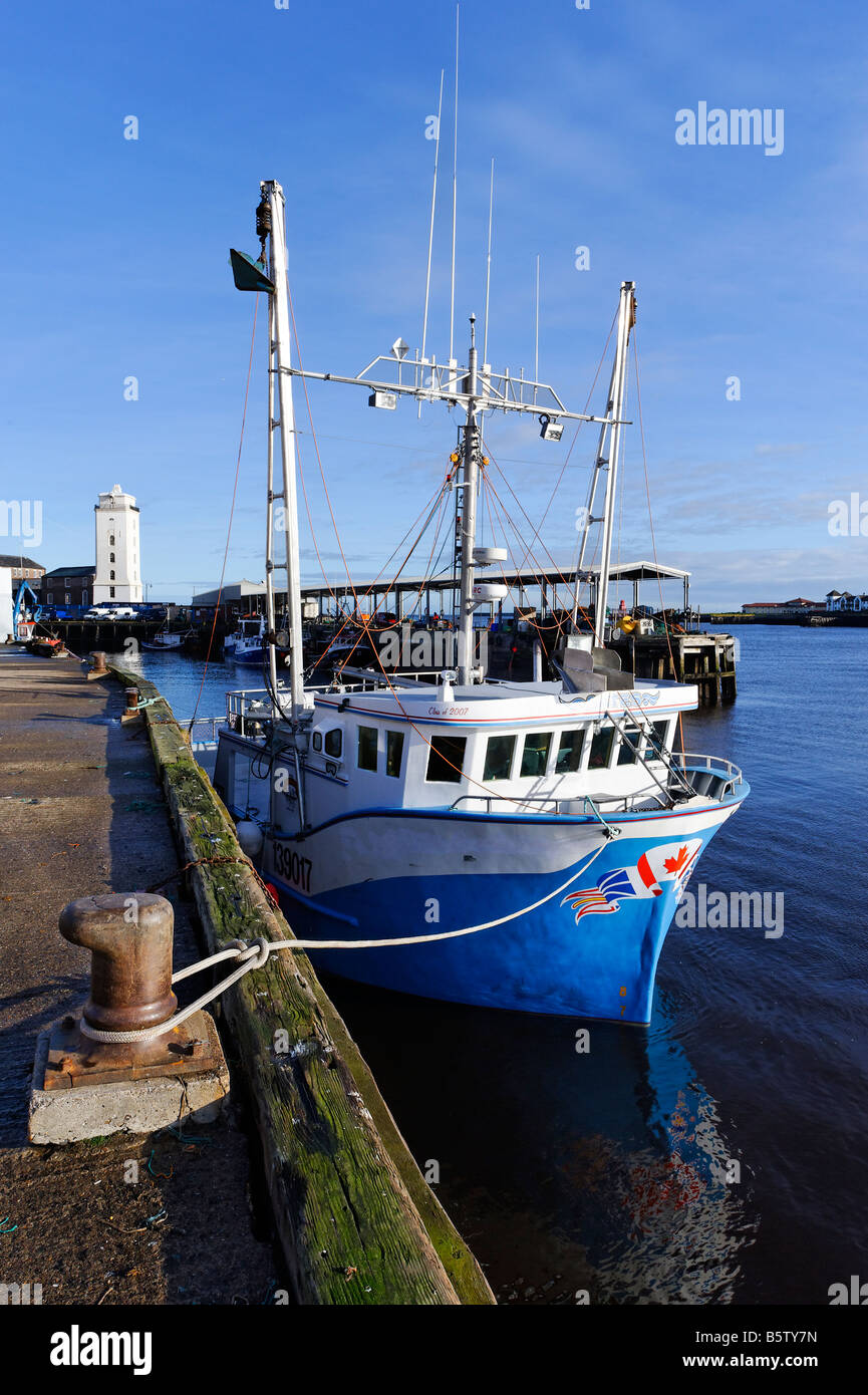 Fishing boat at Fish Quay North Shields - Stock Image