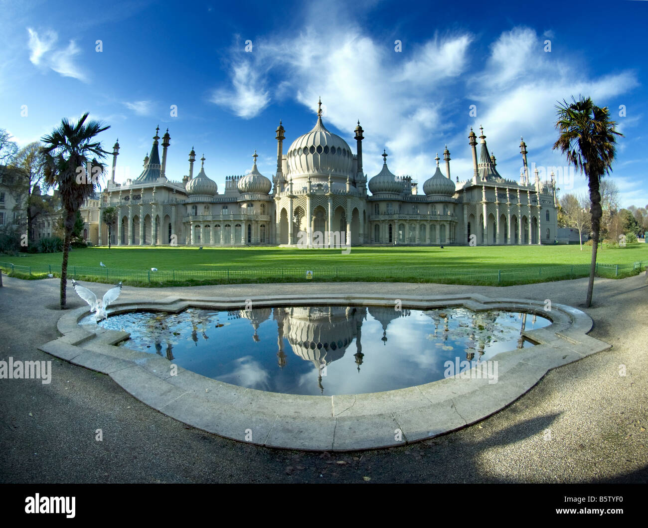 Royal Pavilion, Brighton, Sussex, extreme wide angleStock Photo
