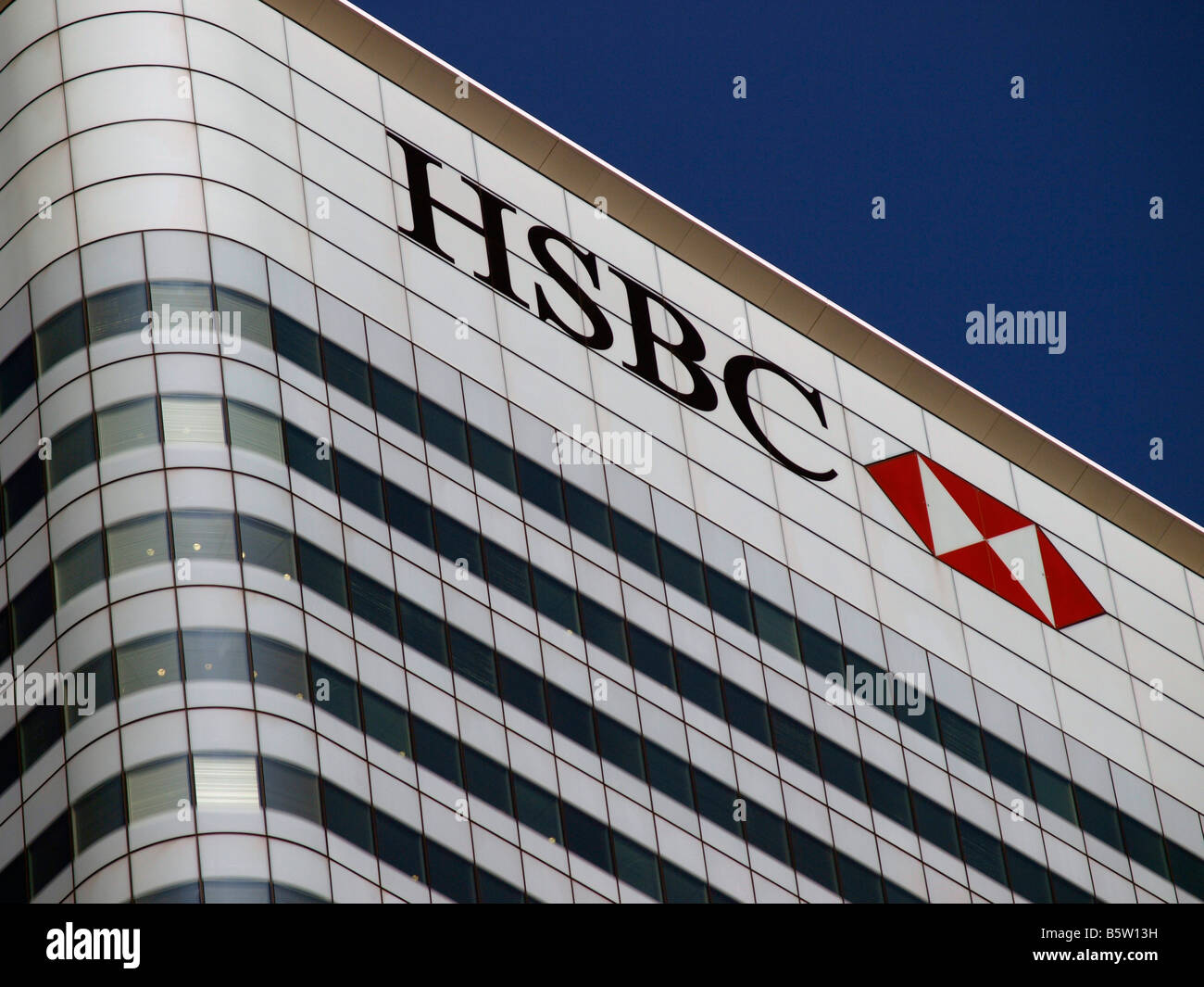 The HSBC tower is owned by Spanish property company Metrovacesa SA. Canary  Wharf Docklands London England UK - Stock Image