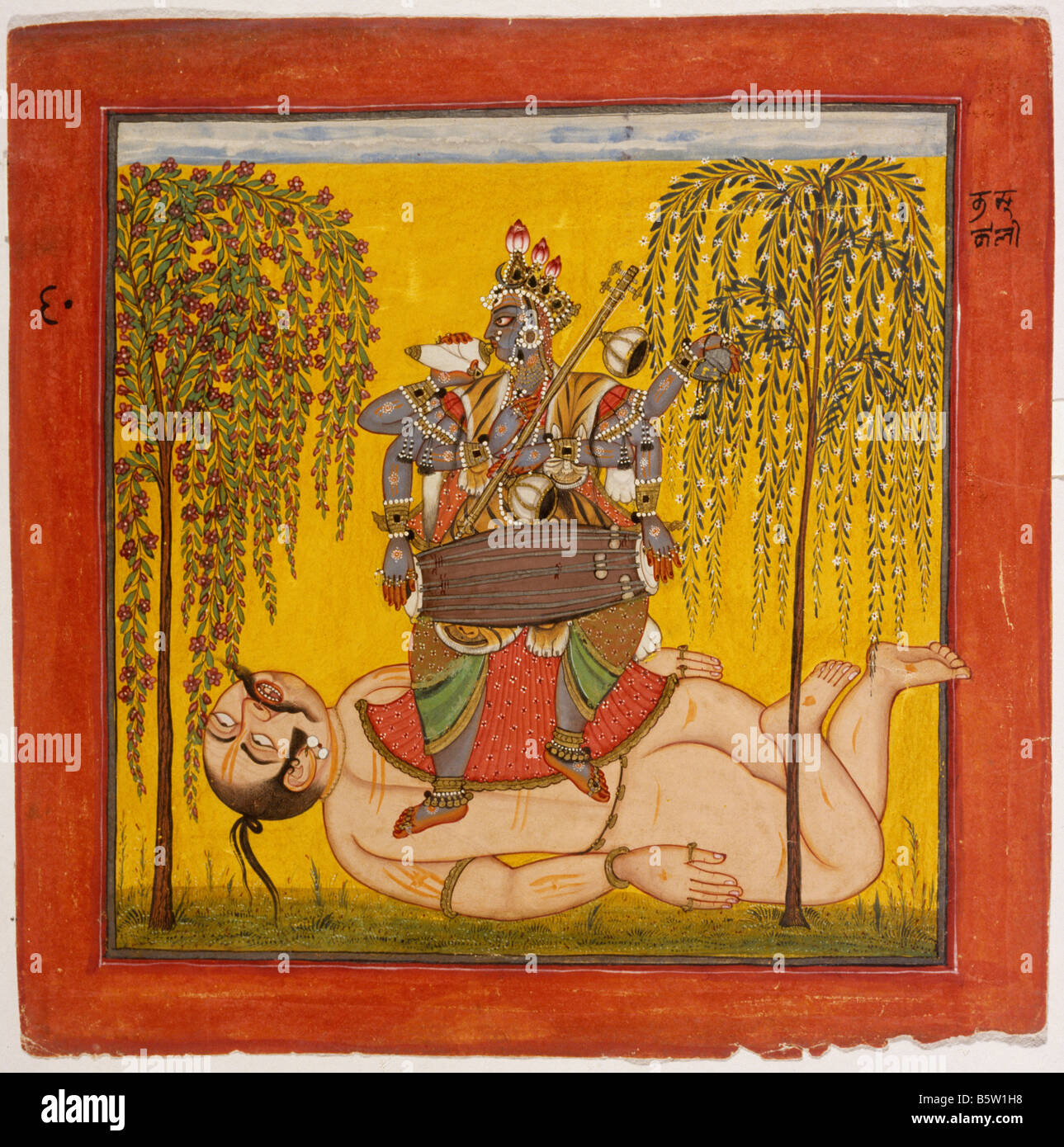 Great Wallpaper Lord Bhadrakali - bhadrakali-tantric-text-basohli-c-1700-hill-school-of-painting-national-B5W1H8  Image_569312.jpg