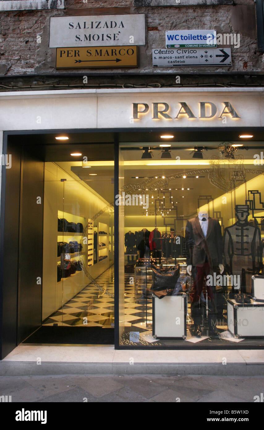 Prada shop Sestiere San Marco Venice Veneto Italy Stock Photo ...
