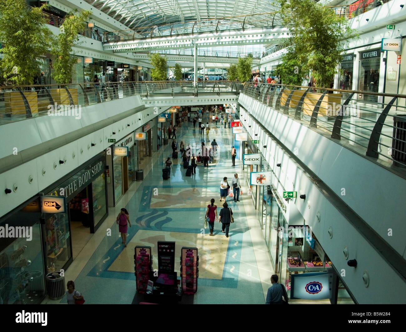 Vasco da Gama shopping mall, Parque das Nacoes, Oriente, Lisbon, Portugal Stock Photo