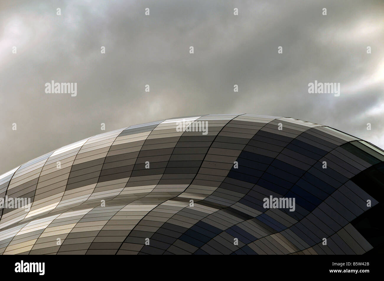 view of the glass roof of the gateshead sage international music centre - Stock Image