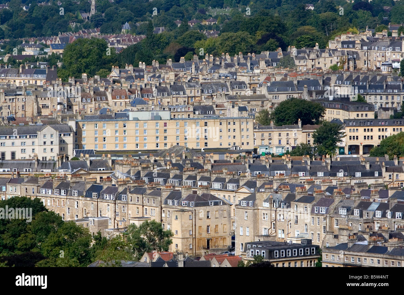 An overview of the city of Bath Somerset England - Stock Image