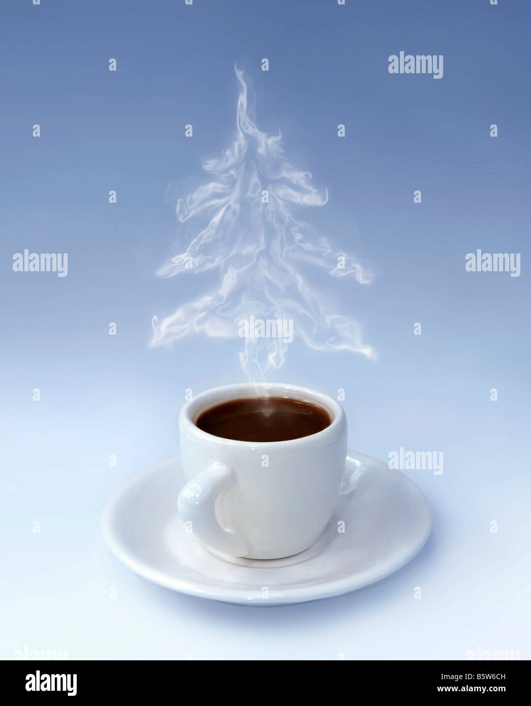 Cup of Christmas Coffee - Stock Image
