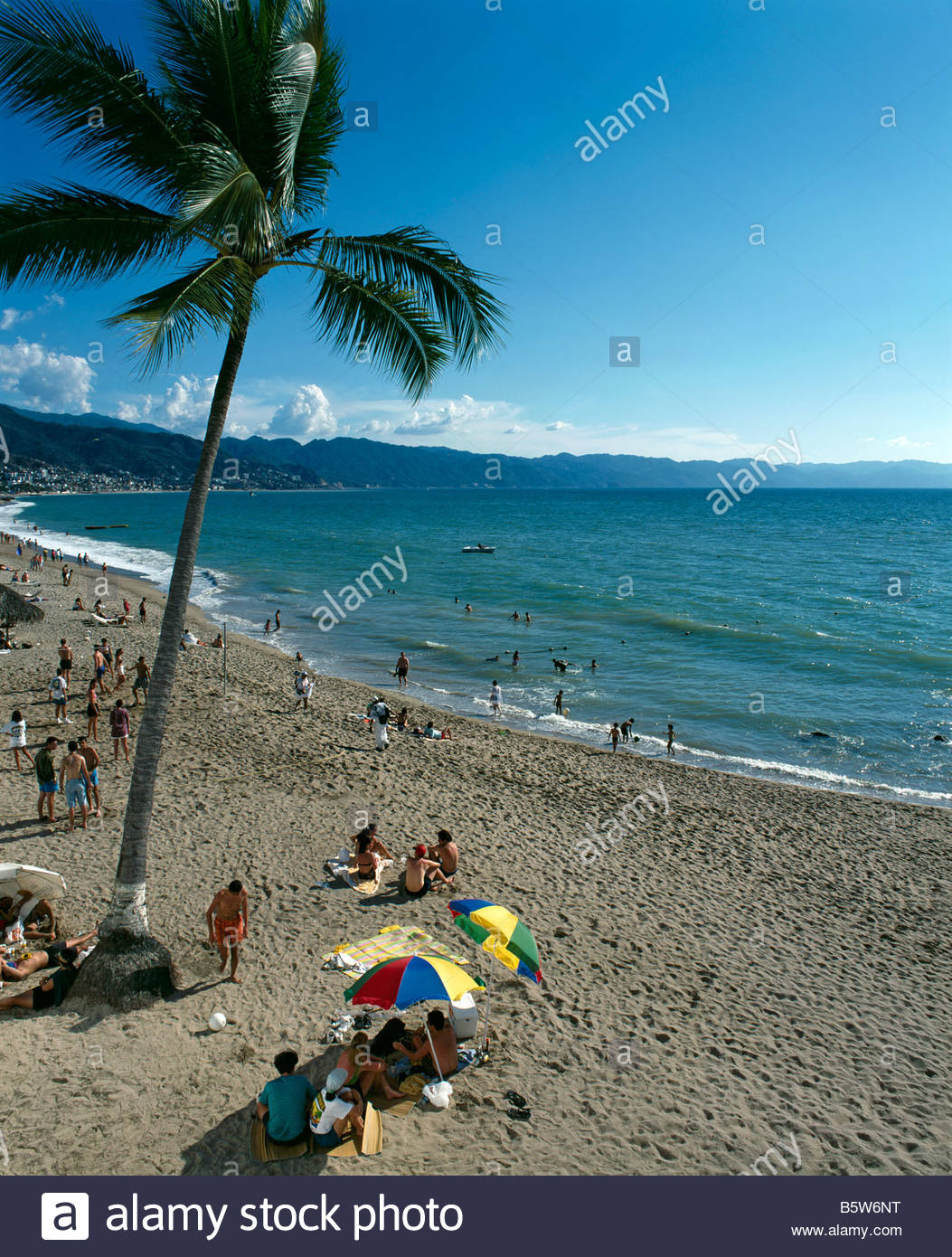 Beach at Puerto Vallarta, Guadalupe, Mexico - Stock Image