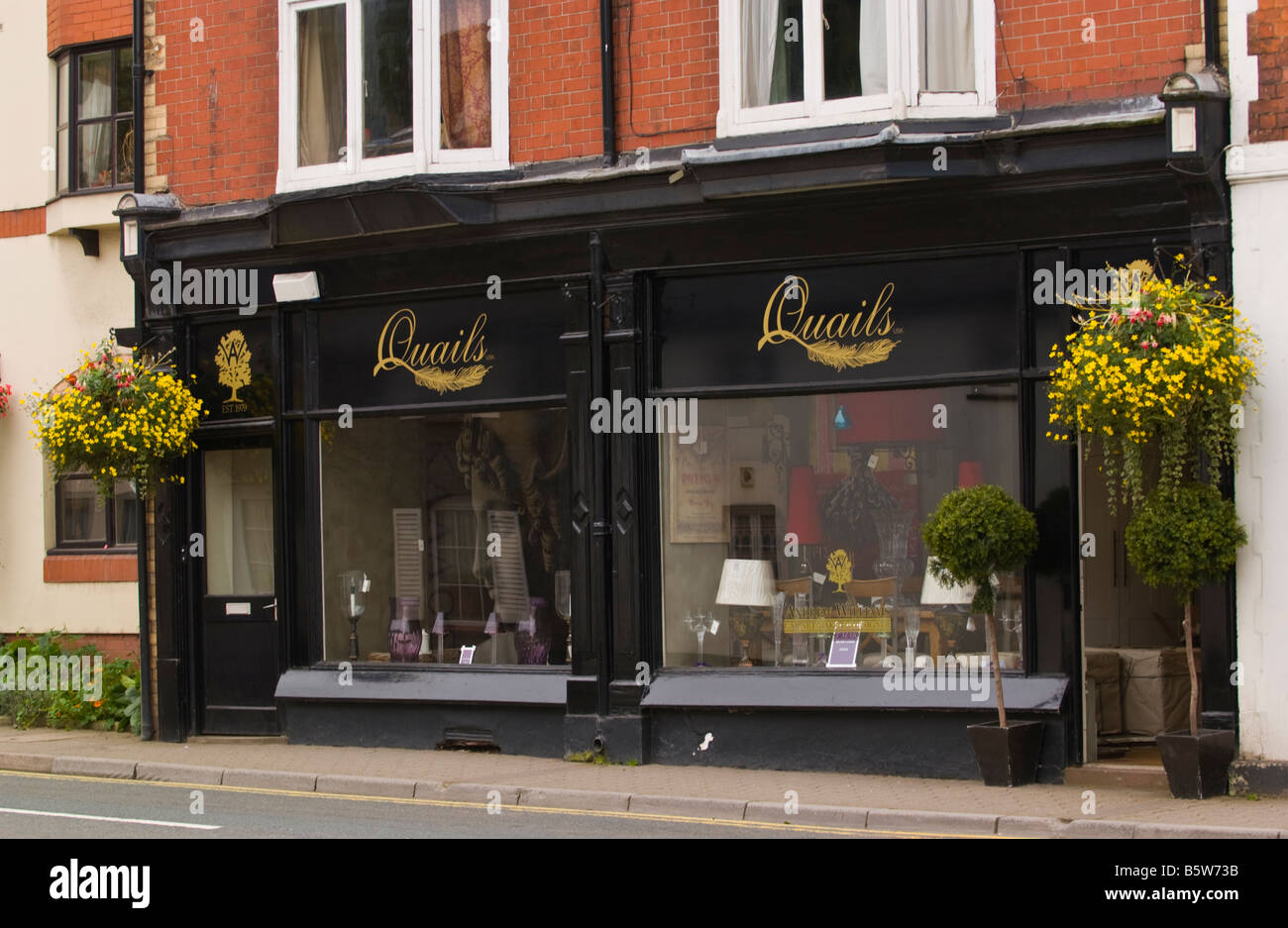Quails interior design store in Usk Monmouthshire South Wales UK - Stock Image