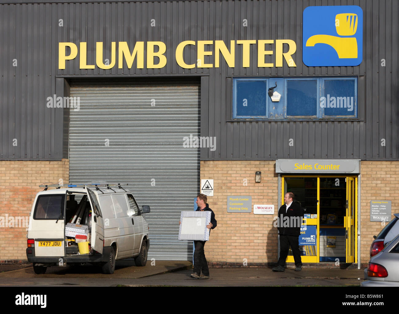 The Plumb Center, a Plumbing and building materials firm owned by Wolseley PLC Stock Photo