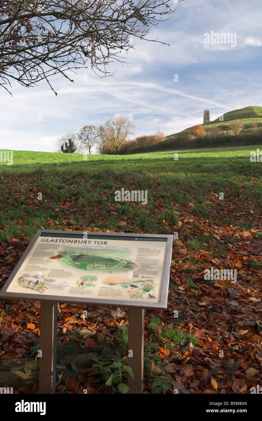 Glastonbury Tor, Somerset, England - Stock Image
