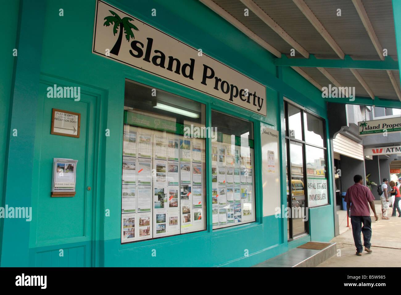 Island property shop Port Vila Efate island Vanuatu - Stock Image