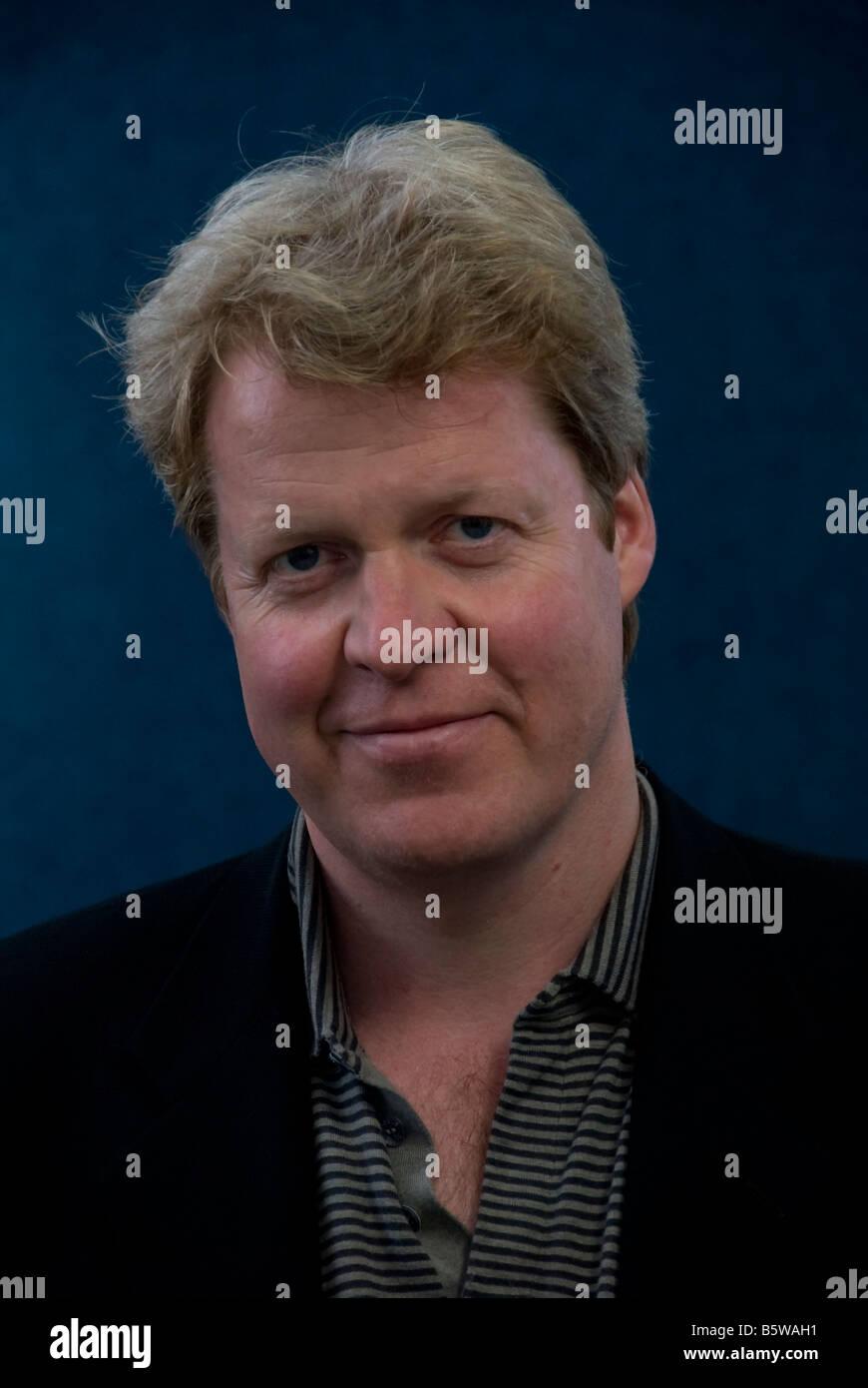 Charles Spencer at the 2007 Edinburgh Book Festival. UK - Stock Image