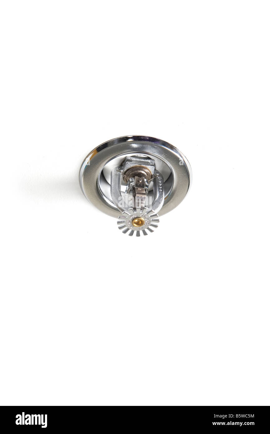 ceiling fire sprinkler - Stock Image