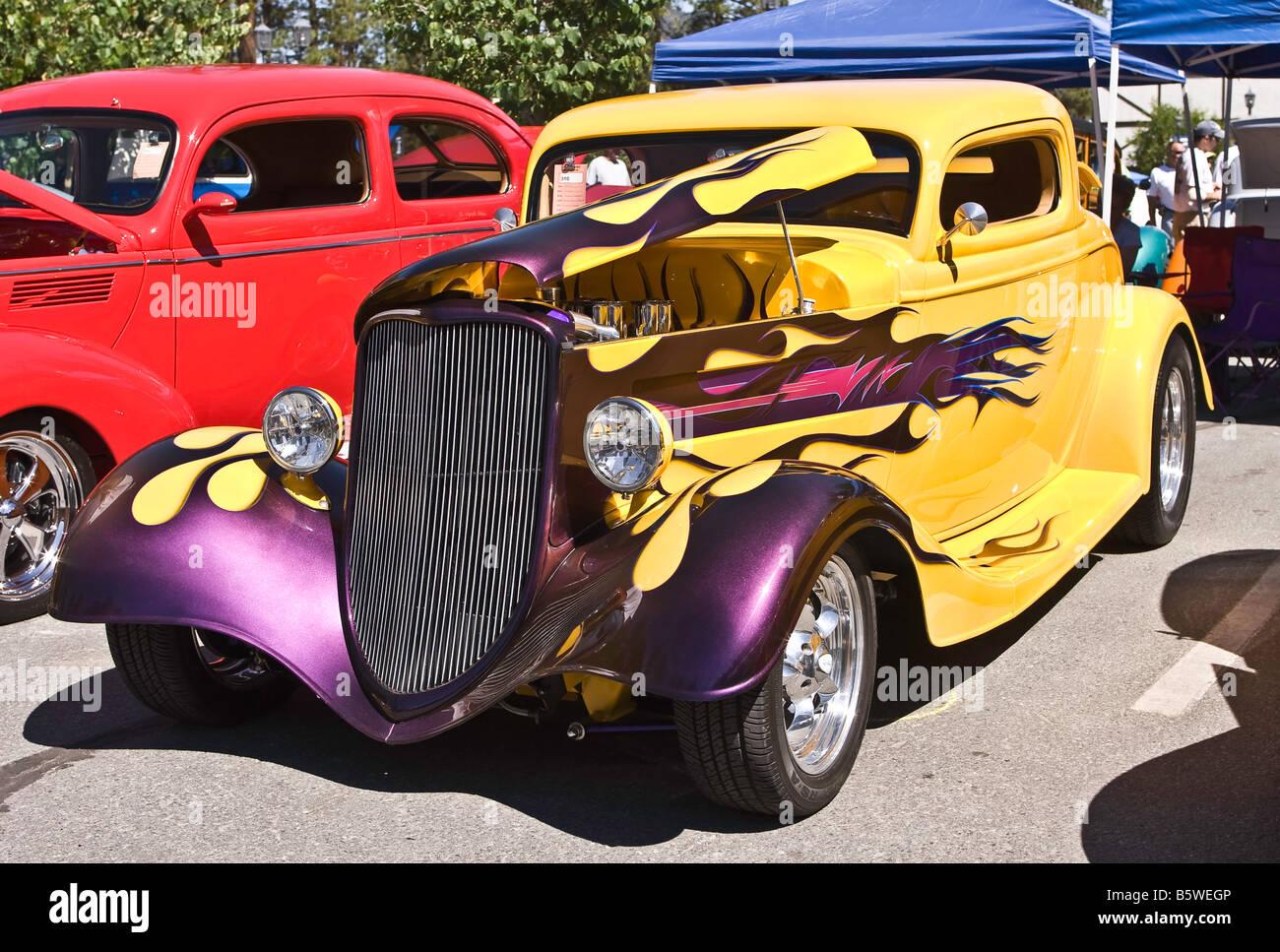 Purple Flames Hot Rod Paint Stock Photos & Purple Flames Hot Rod ...