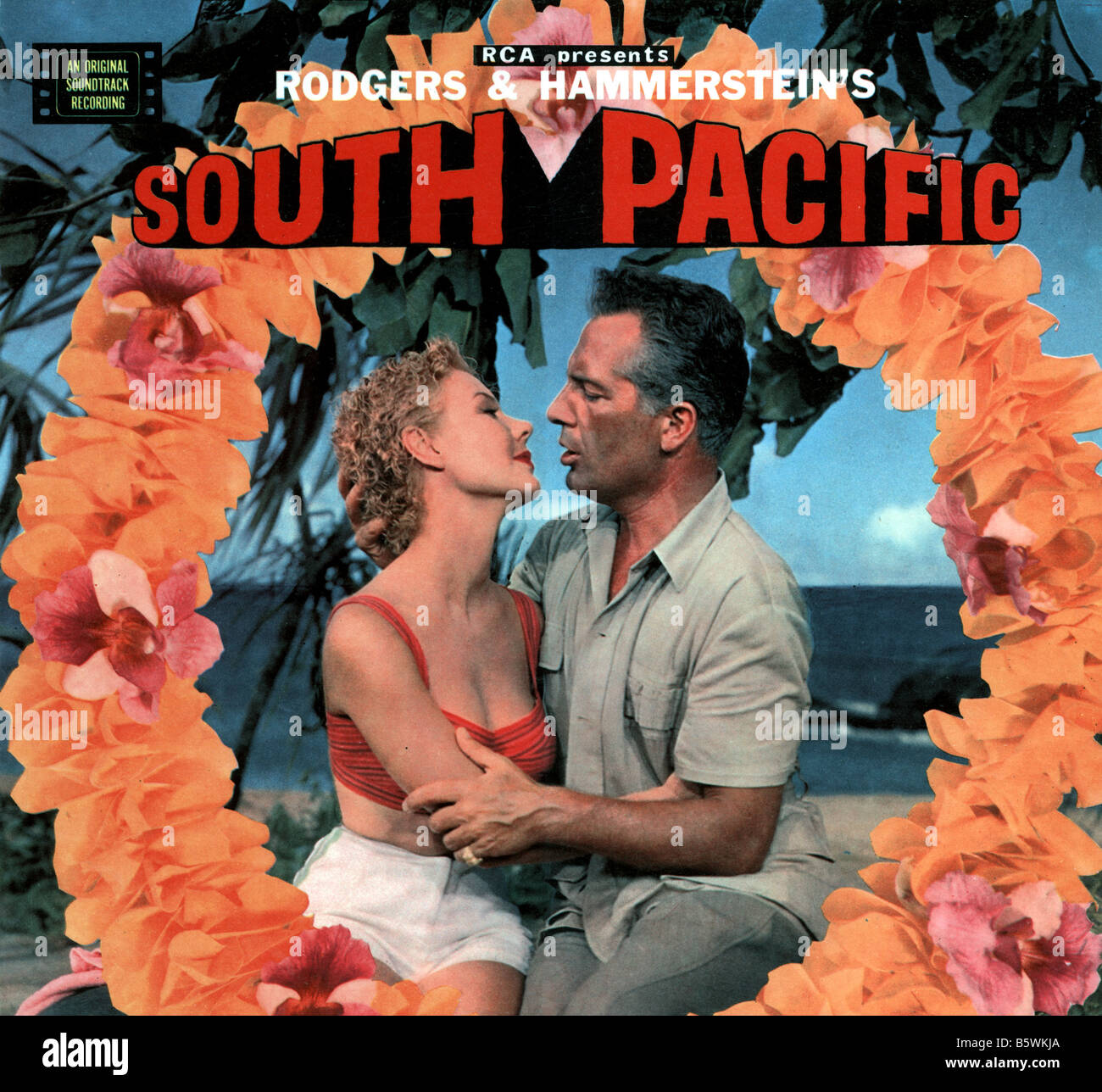 SOUTH PACIFIC  Soundtrack LP recording - Stock Image