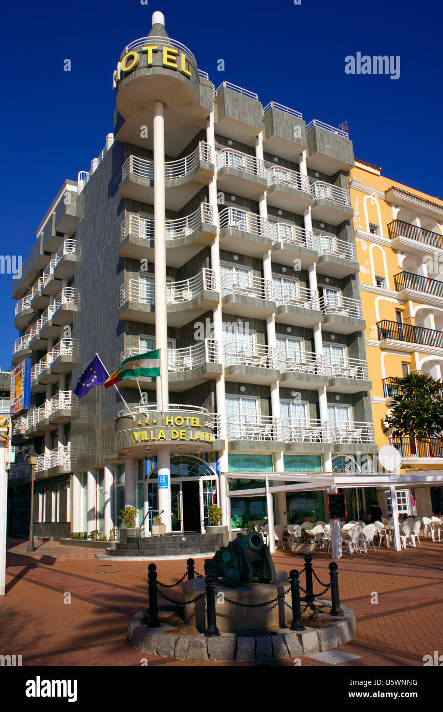 Hotel Villa De Laredo, Passeio Maritimo, Fuengirola, Costa del Sol, Spain - Stock Image