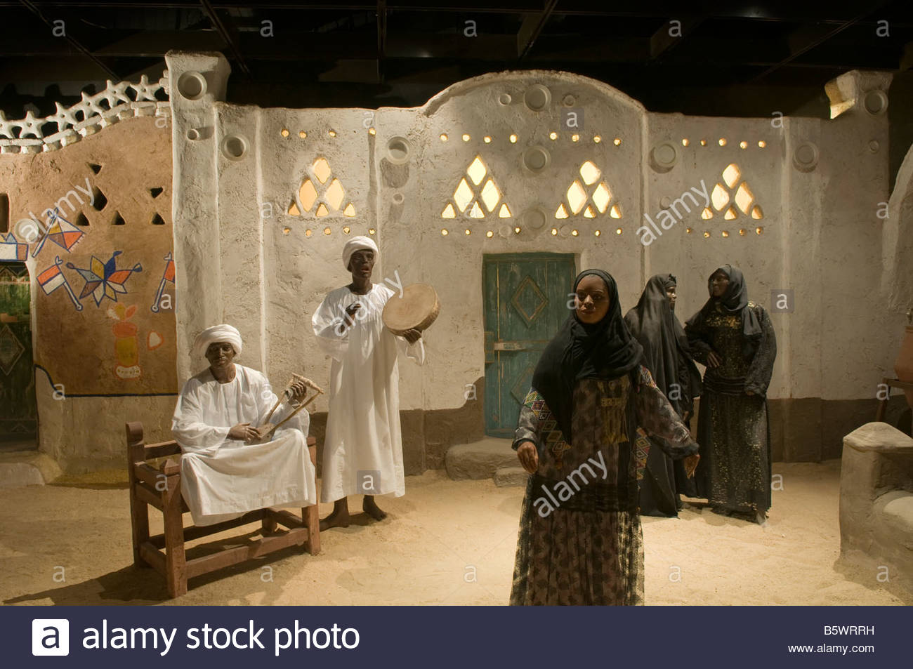 A Nubian ethnography exhibition inside the Nubian Museum in Aswan Egypt - Stock Image