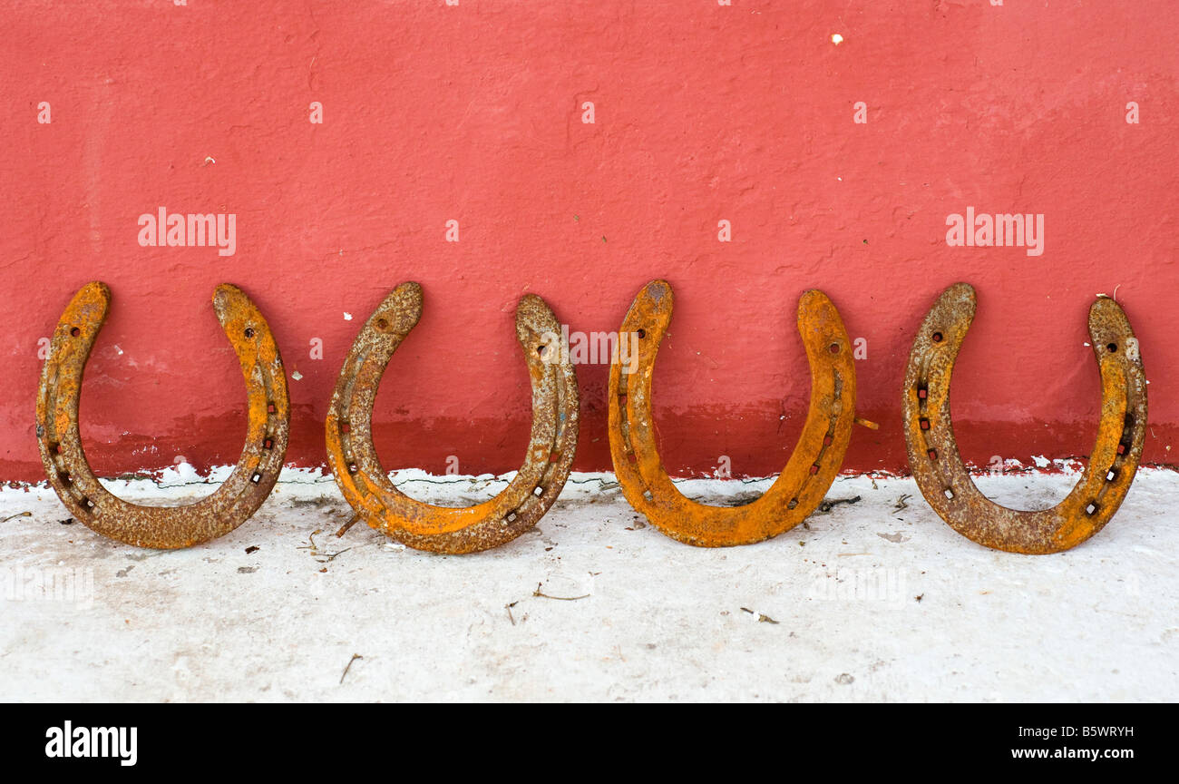 horse shoes - Stock Image