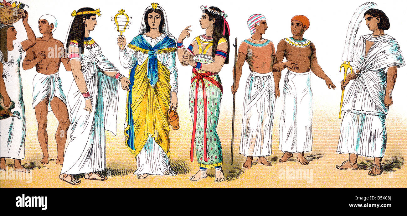 Ancient Egyptians - Stock Image
