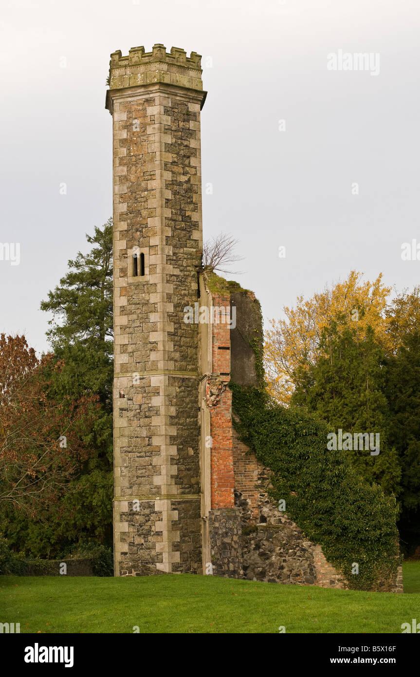Freestanding Italian Tower at Antrim Castle Gardens - Stock Image