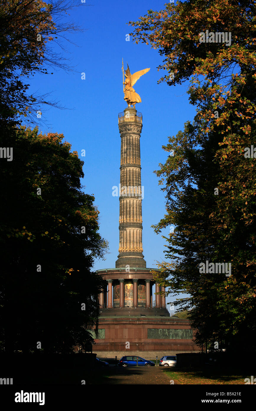 The Victory Column (1873) commemorating Prussian victories during the unification wars in Berlin, Germany - Stock Image