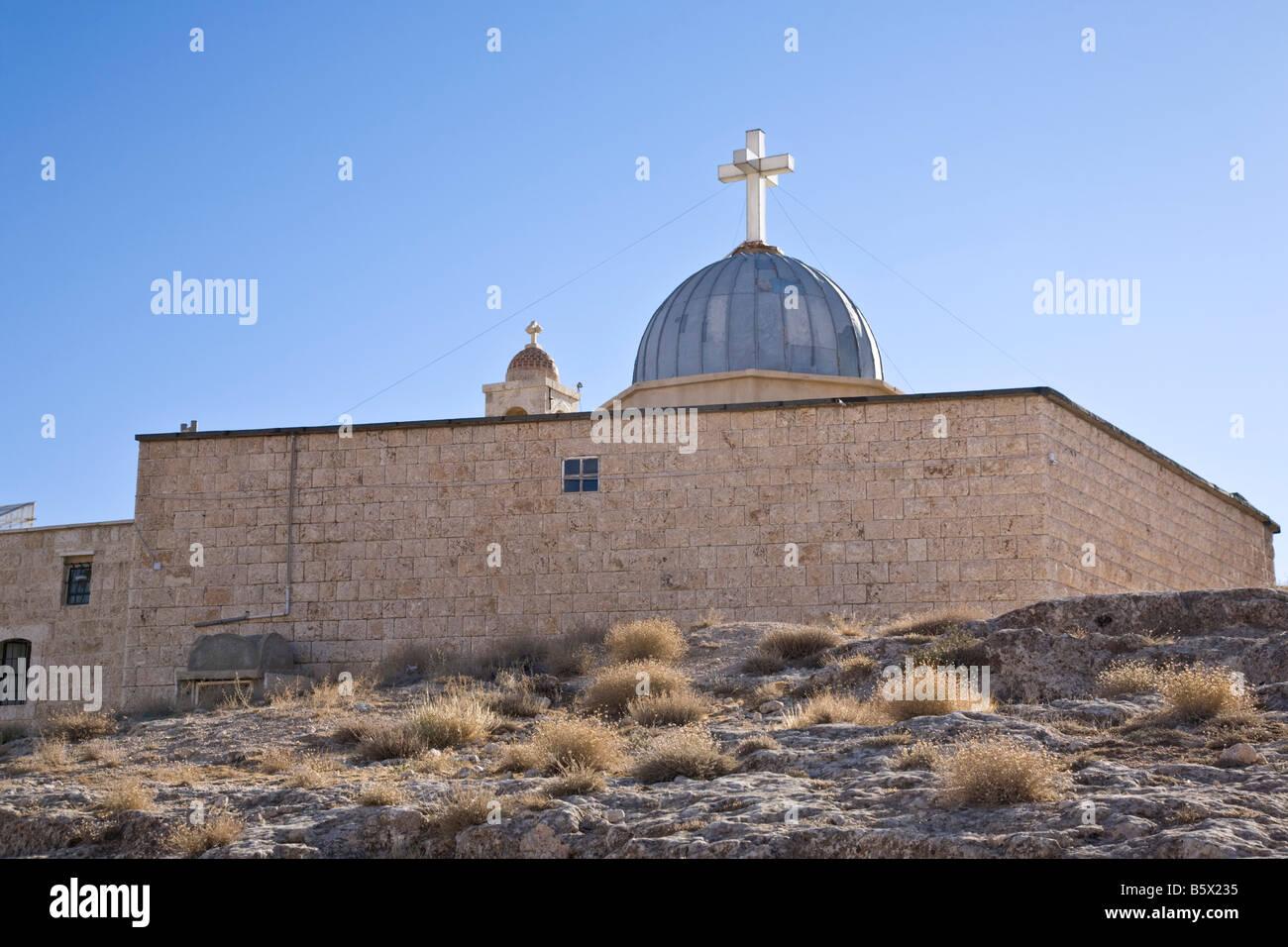 Church of Saint Serge and Saint Bacchus. `Ayn at Tīnah, Maalula, Rif-dimashq, Syria. - Stock Image