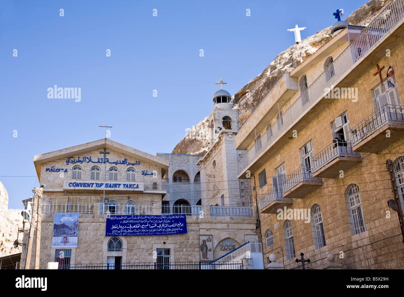 Church of Saint Takla. `Ayn at Tīnah, Maalula, Rif-dimashq, Syria. - Stock Image