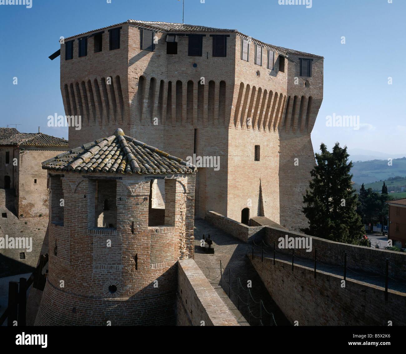 Italy: Marche: Mondavio: The Rocca - Stock Image