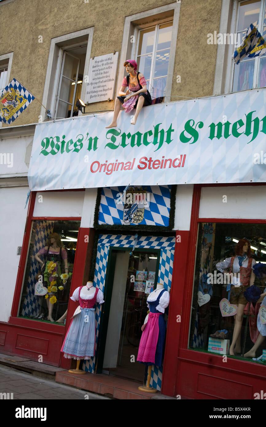 Steindl costumes shop for Oktoberfest Wiesn Munich Germany - Stock Image