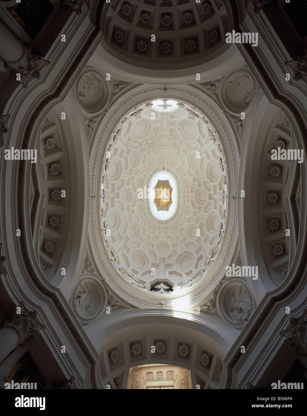 San Carlino Rome. Dome - Stock Image