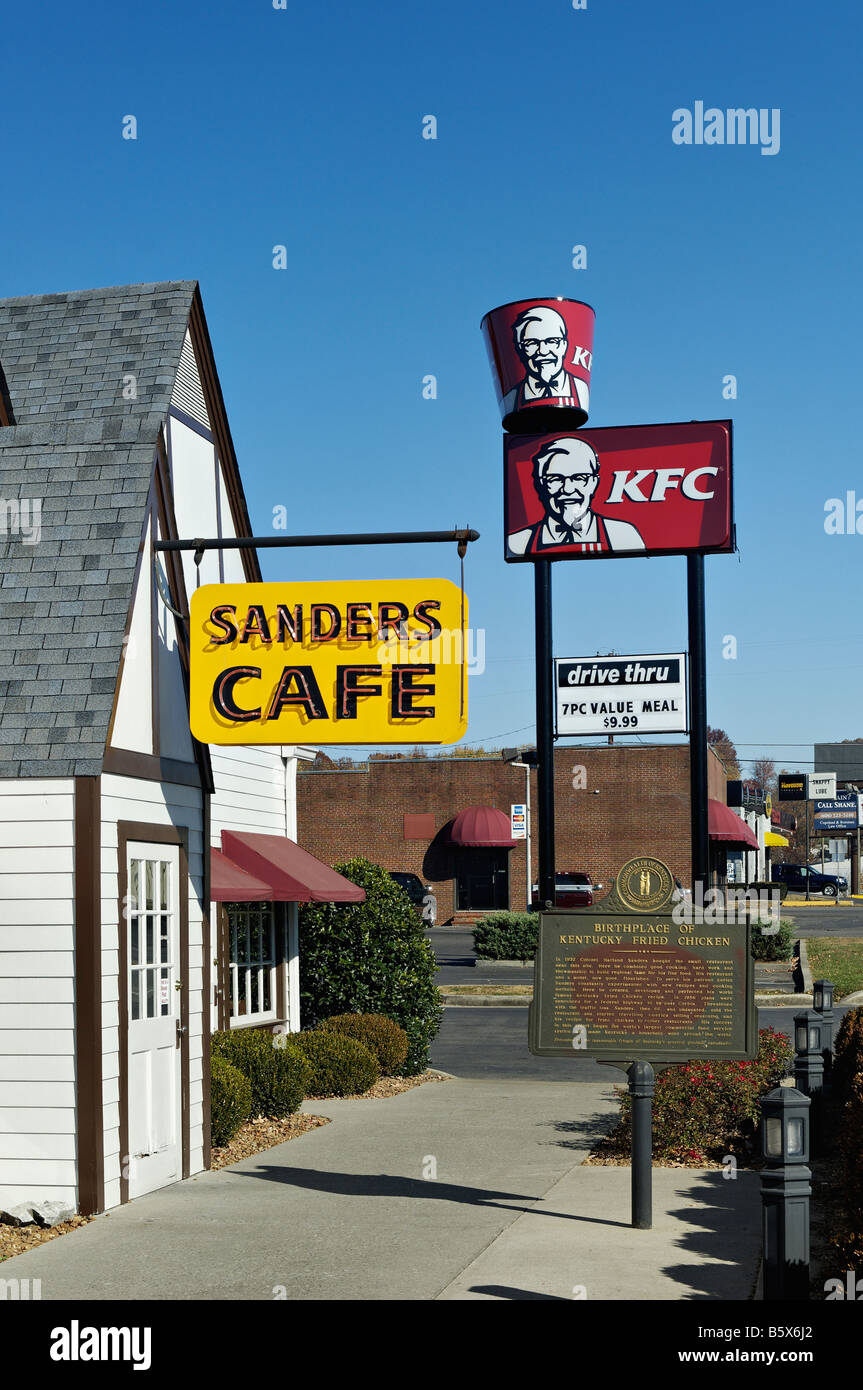 First Kfc Restaurant Kentucky Colonel Stock Photos & First Kfc ...
