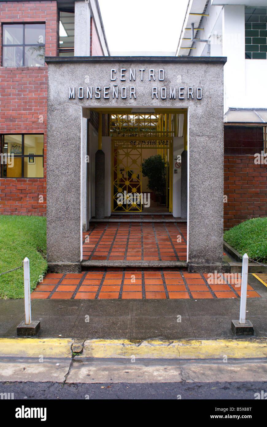 The Centro Monsegñor Romero at the Universidad Centroamericana or UCA in San Salvador, El Salvador, Central - Stock Image