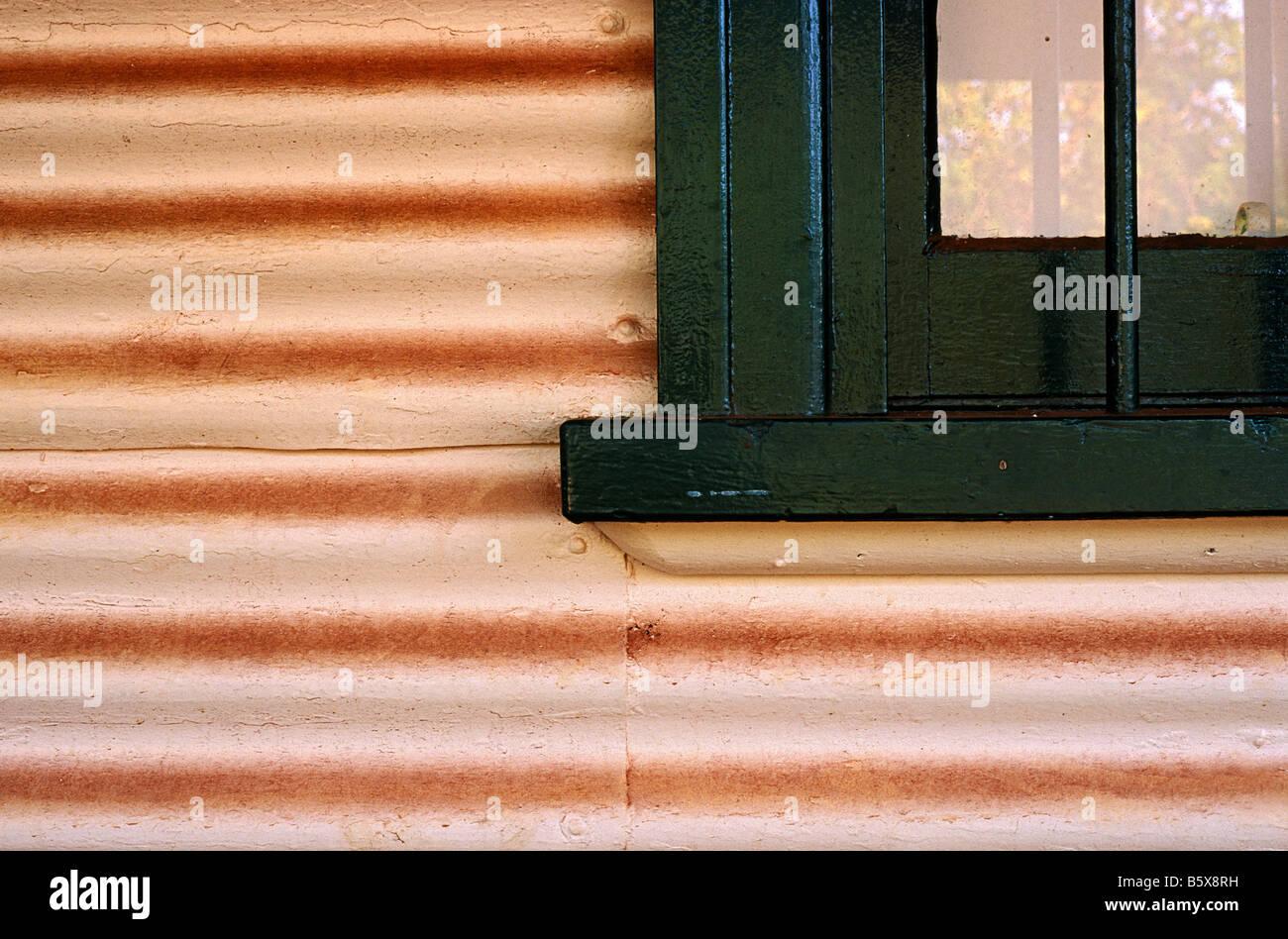 Corrugated iron, Australia - Stock Image