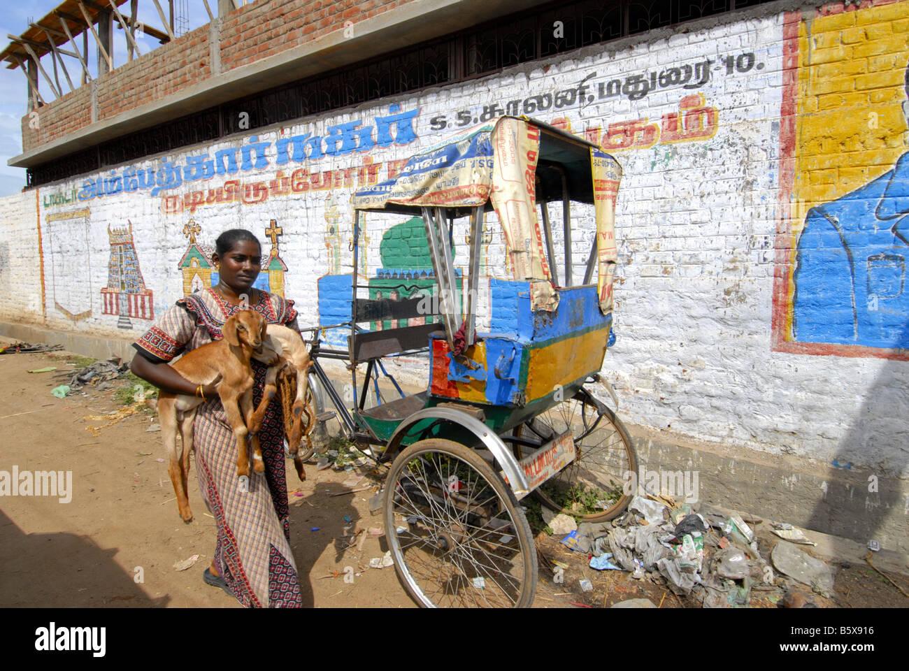 Graffiti On The Wall In Madurai Tamilnadu Stock Image