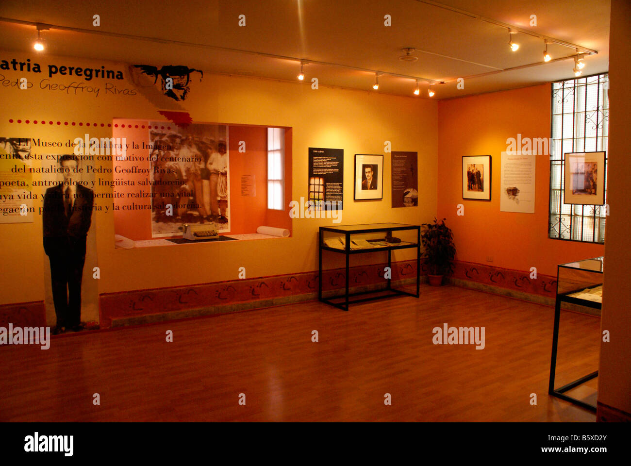 Gallery in the Museo de la Palabra y la Imagen or Museum of Word and Image in San Salvador, El Salvador Stock Photo