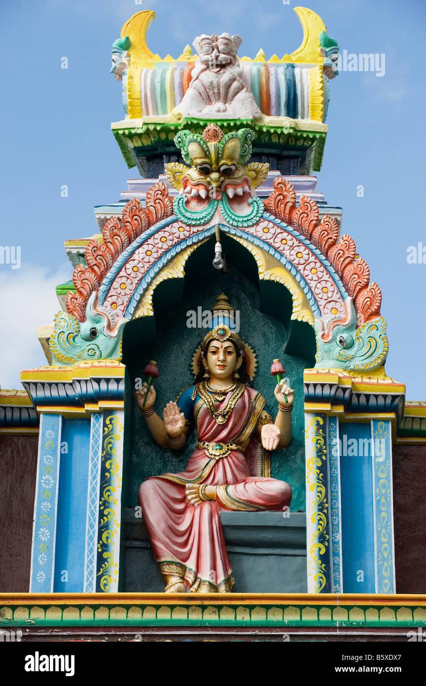 Hindu Deity Painted Statue On The Lord Lakshmi Narasimha Swamy