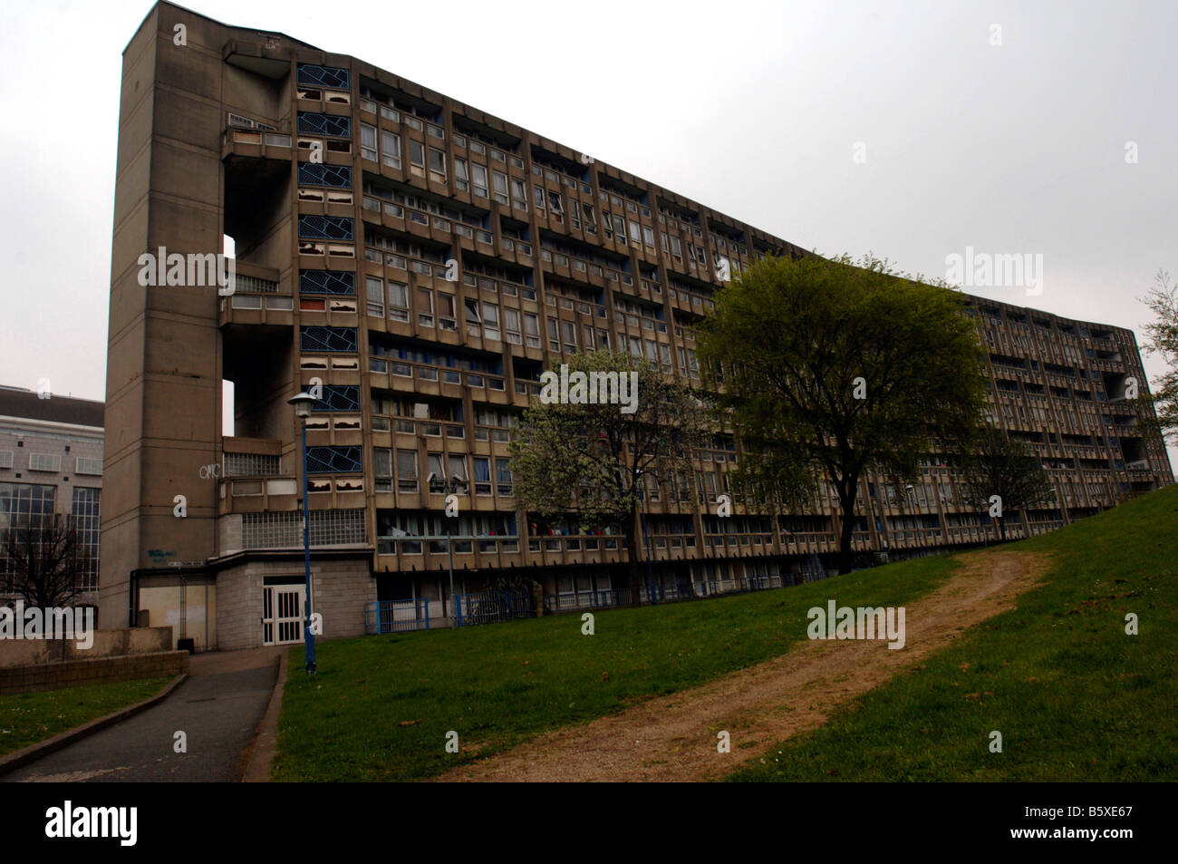 Robin Hood Gardens Tower Hamlets Poplar London E14 - Stock Image