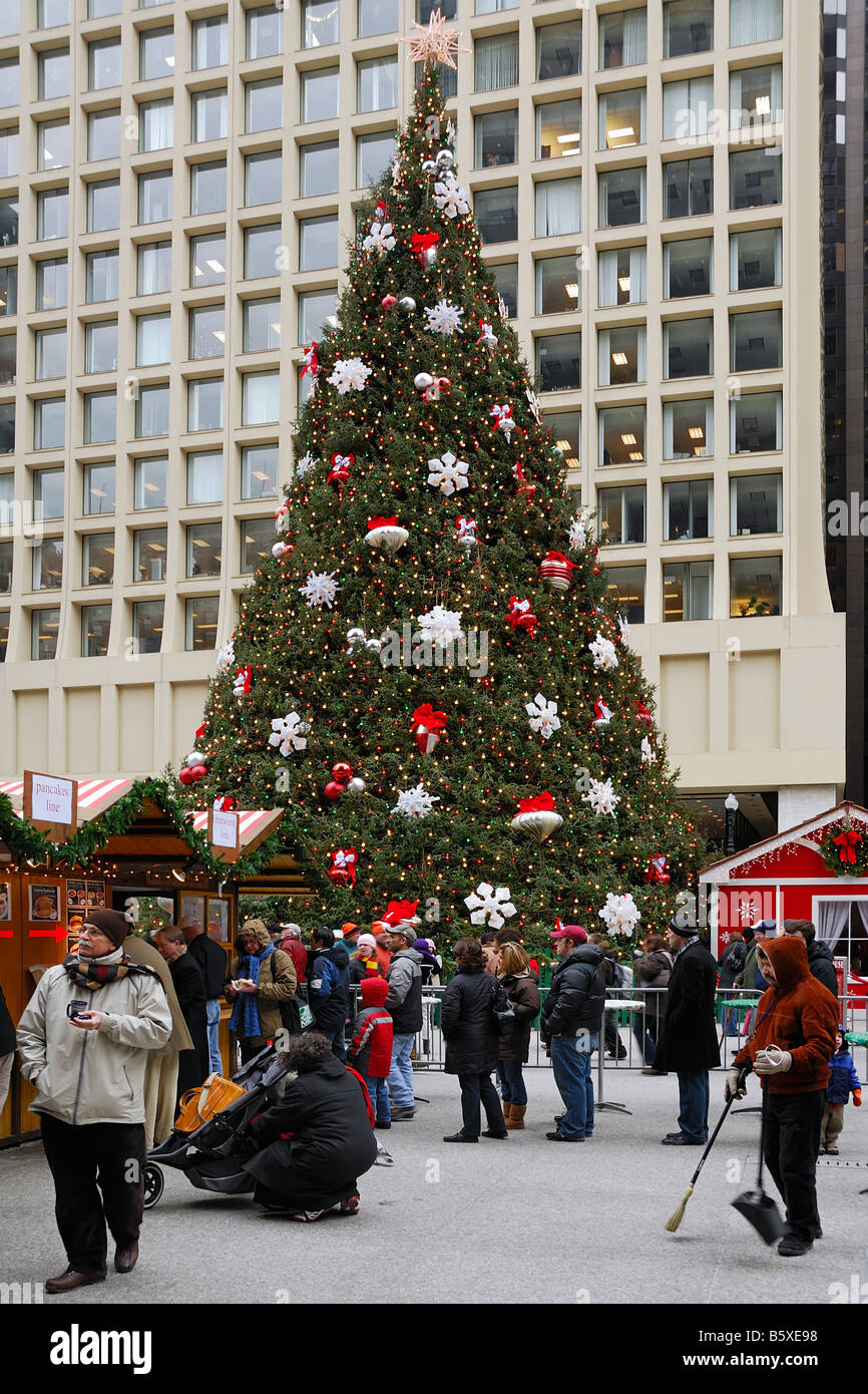 people enjoy the christmas tree at the christkindle market german style christmas market in