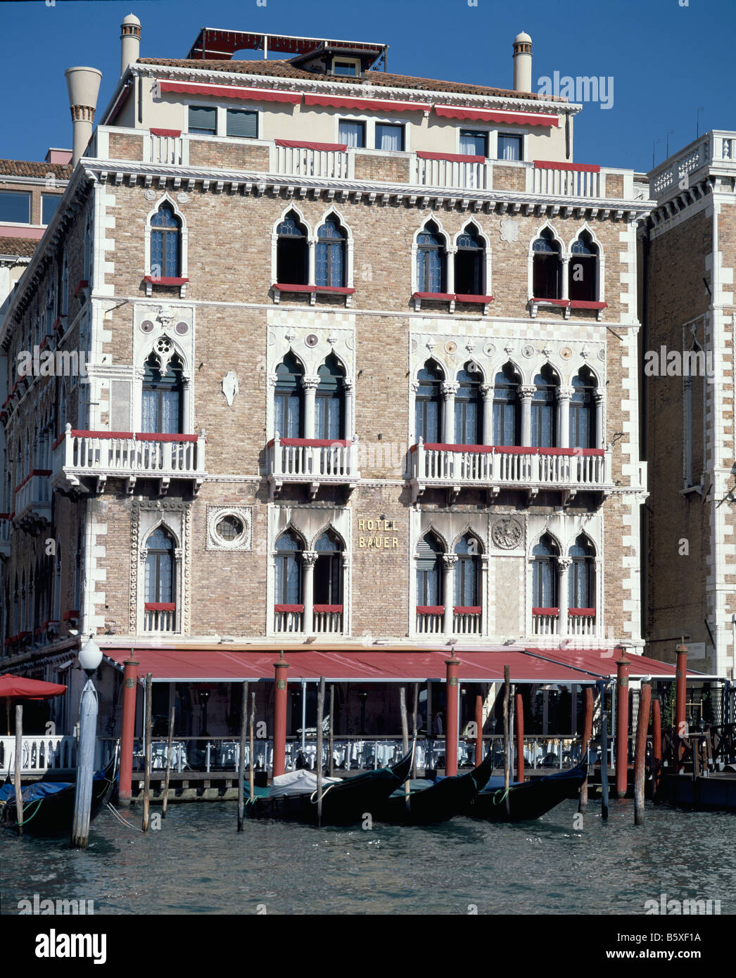 Bauer Hotel, Venice - Stock Image