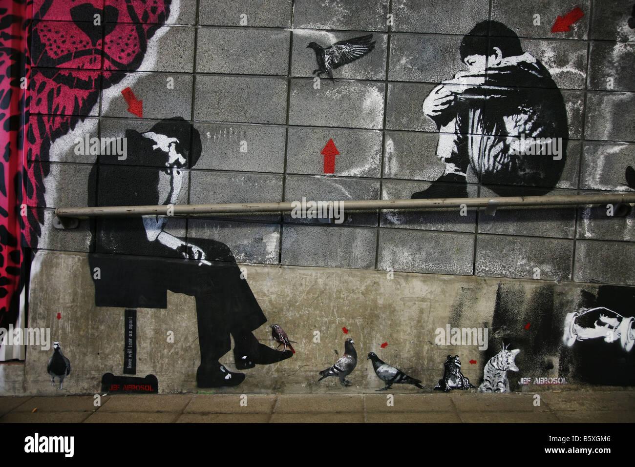 Depressed Sad Homeless Banksy Graffiti Artist Art Exhibition