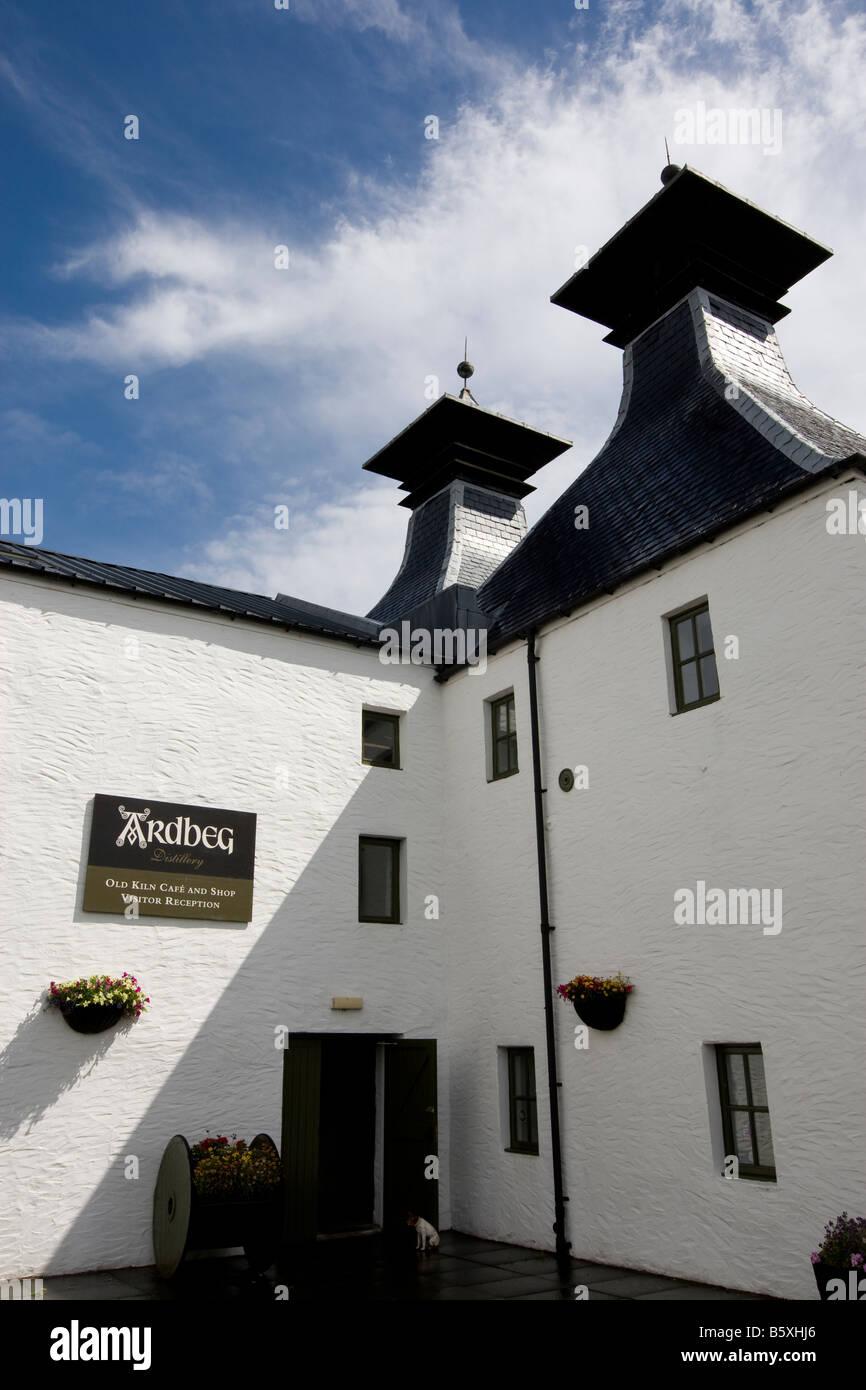 Ardbeg malt whisky distillery, Ardbeg, Islay, Scotland - Stock Image
